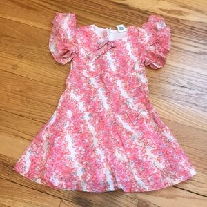 Gap girls' floral dress, 18-24 mos., fully lined